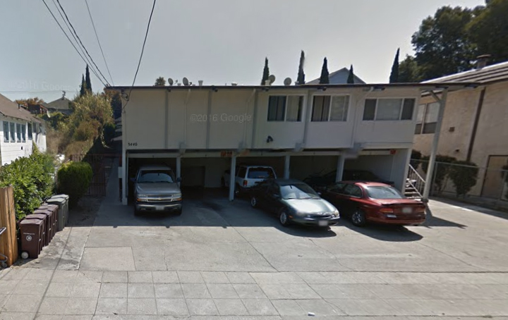 The Oakland apartment on Wilson Avenue where Alaysha and two other children and their grandmother were shot. Image: Google Maps