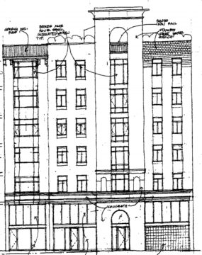 Very preliminary drawings for 2072 Addison. Image: Kirk E. Peterson & Associates