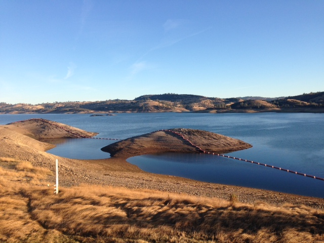 The Pardee Reservoir in November 2015. Photo: EBMUD