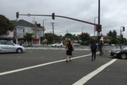 City planners have drawn up possible changes to problematic intersections in South Berkeley, including the Ashby and Adeline intersection.  Photo: Natalie Orenstein