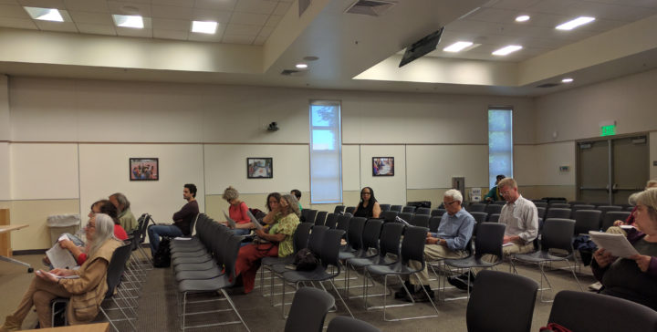 Only a handful of people came to the City Council's special meeting on housing. Photo: Lance Knobel