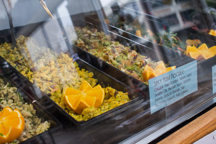 Salads at the deli counter from Howden Market. Photo: Benjamin Seto
