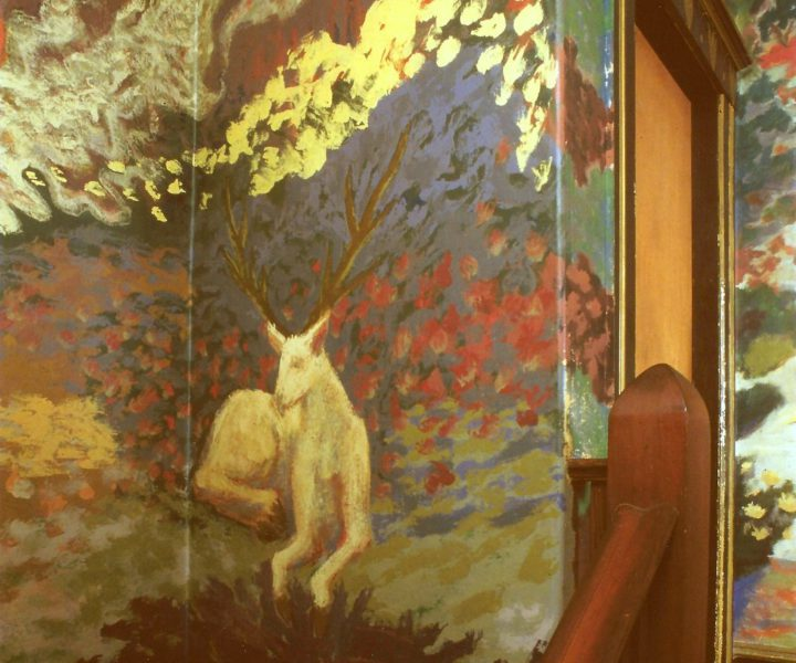 A mural by Jess Collins inside the Pauline Kael house. Photo: Jess Collins Trust