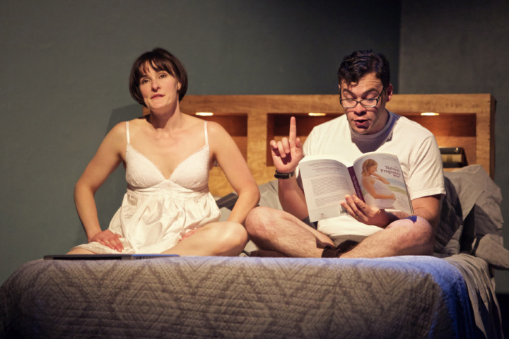 IN PRODUCTION Elissa Stebbins as Becky, Nick Medina as John in The Village Bike by the Shotgun Players. Photo: Pak han