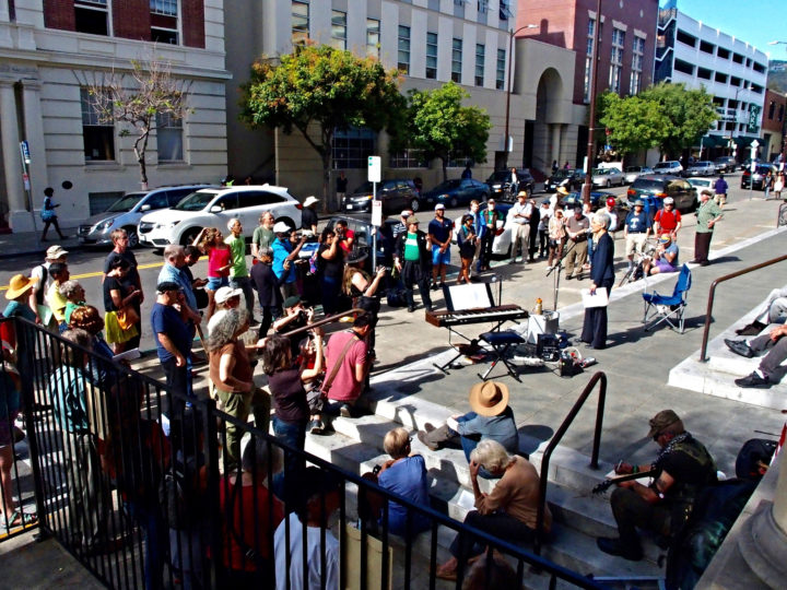Rally at the downtown Berkeley Post Office on Friday June 3. Photo: Ted Friedman