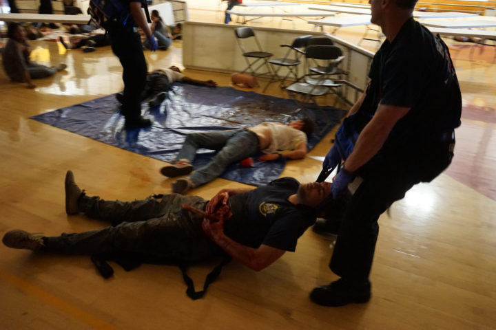 Mass casualty drill at Berkeley High School on June 1, 2016. Photo: BUSD/Mark Coplan