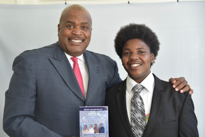 Dr. Kevin D. Barnes Sr. (author of Successfully Raising Young Black Men - he was on hand to sign books for awardees) and Gabre Brown, 2016 Rising Star Awardee (nominated by BOSS). Photo: Sara May Anooshfar