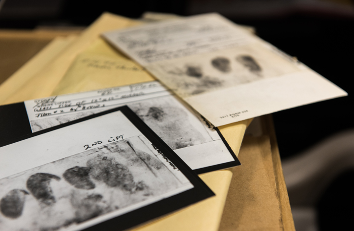 Among the evidence collected in the cold case are fingerprints lifted from crime scenes, shoe treads, and DNA. Although there were no tests for DNA matching at the time of the crimes, investigators say they can now use that technology to rule out suspects and to verify the killer's identity. Photo: FBI