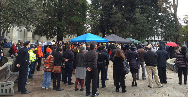 The city held a memorial Jan. 14, 2016, to remember and honor Johnny Tolliver Sr. Photo: Mayor Tom Bates' office