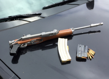 Recovered rifle and ammunition. Photo: BPD