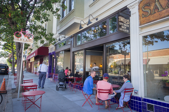 Timeless Coffee has been a popular neighborhood cafe since it opened three years ago, now offering more sidewalk seating with its expanded space. Photo: Benjamin Seto