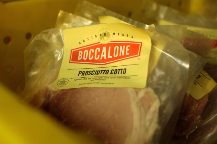 Packaged prosciutto cotto at the Boccalone factory. Photo: Kate Williams
