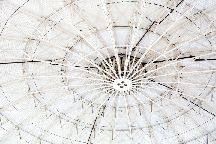 The ceiling of the Advanced Light Source at Berkeley Lab. Photo: Emilie Raguso