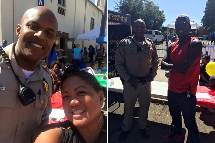 National Night Out, Aug. 2, 2016, on McGee Avenue. Photo: Oakland CHP