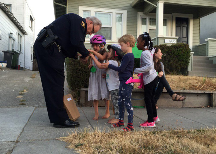 Andy Greenwood, National Night Out, Aug. 2, 2016. Photo: City of Berkeley