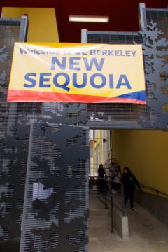 UC Berkeley students move in to the recently completed New Sequoia building on Telegraph and Haste. Photo: Ted Friedman