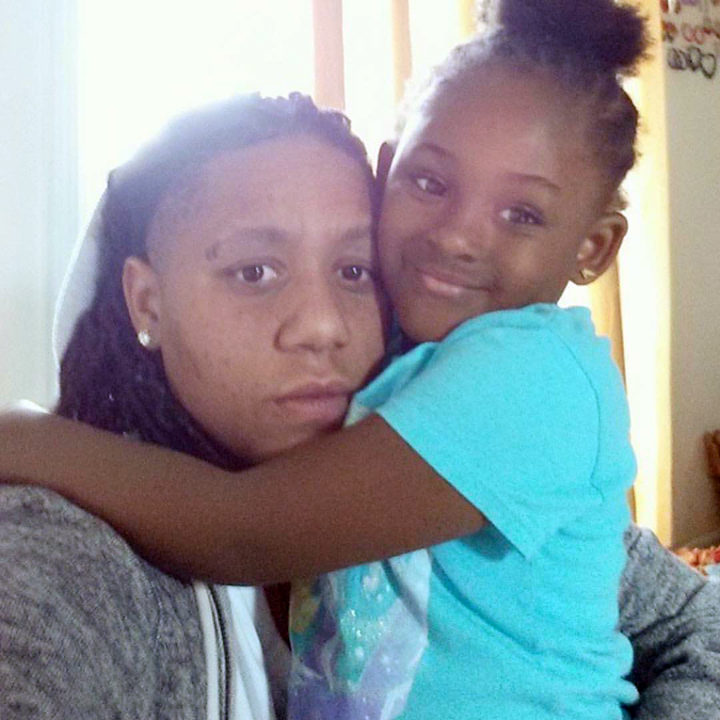 Marne'e Causey and her daughter, who is 5. Photo: Causey family