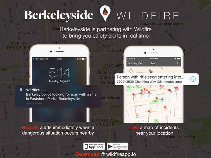 Sign up for Wildfire to get public safety alerts. Image: Wildfire