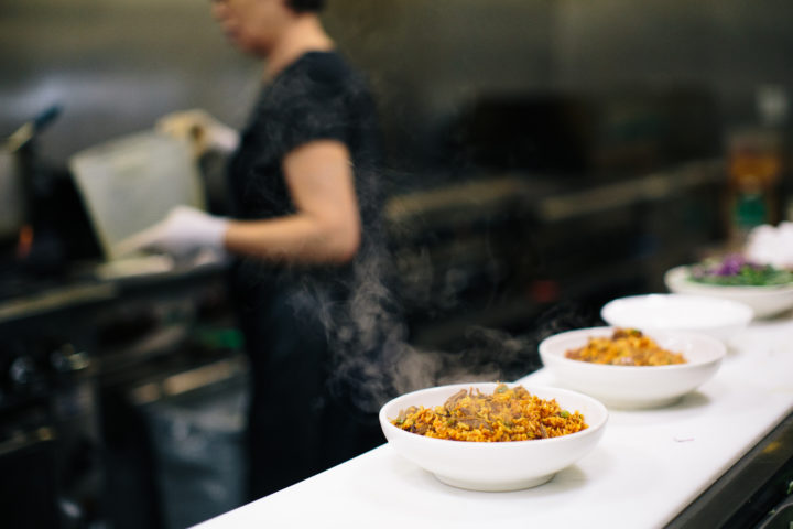 Fried rice in the kitchen at Bowl'd Alameda. Photo: Clara Rice