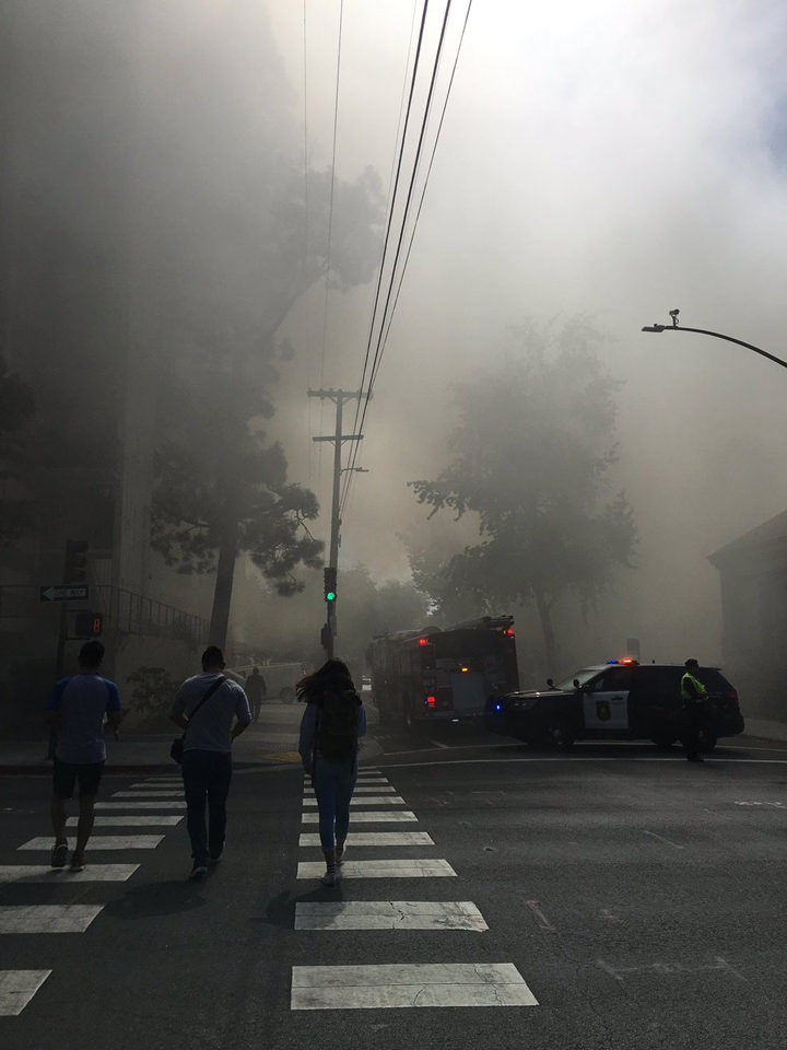 Fire on Channing at the First Congregational Church. Photo: Kamei, Gentaro