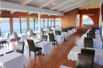 The dining room at Eve's. Photo: Courtesy of Eve's Waterfront Restaurant