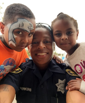 "Via Chief Mike Meehan: ""BPD Officer Perkins this weekend at the Ephesian Children's Center Annual Safety Fair."" Photo: BPD"