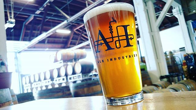 A pint of beer at the Ale Industries tasting room. Photo: Ale Industries