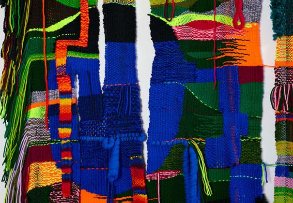 Terri Friedman: Yarn Painting, 2016 (detail); acrylic, wool, and cotton fibers; dimensions variable; courtesy of the artist.