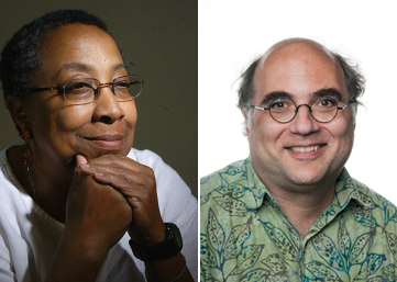 Emcees Johnson and Kornbluth