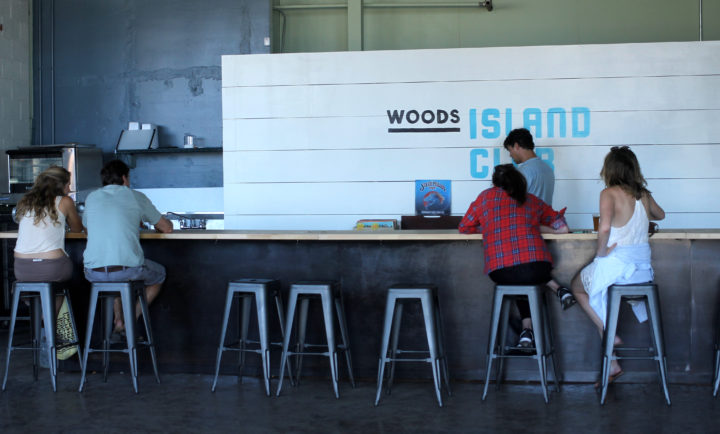 The Bar at Woods Island Club. Photo: Kate Williams