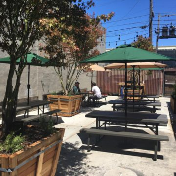 The beer garden at Rotten City. Photo: Rotten City Pizza/Facebook