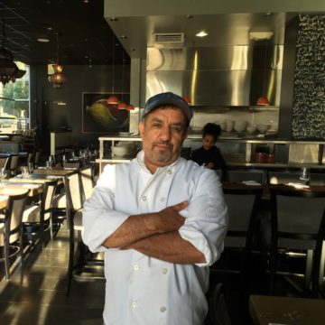 Chef Mohamed Aboghanem of Saha, in his new dining room in downtown Berkeley. Photo: Saha/Facebook