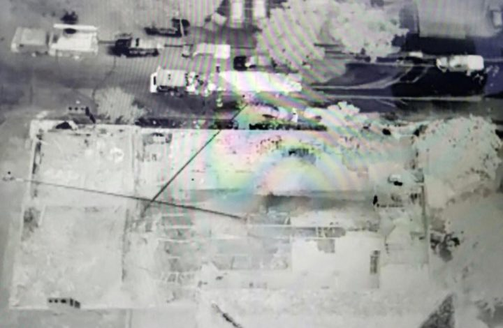 Thermal image taken by the drone deployed by the Alameda County Sheriff's Office. Photo: ACSO