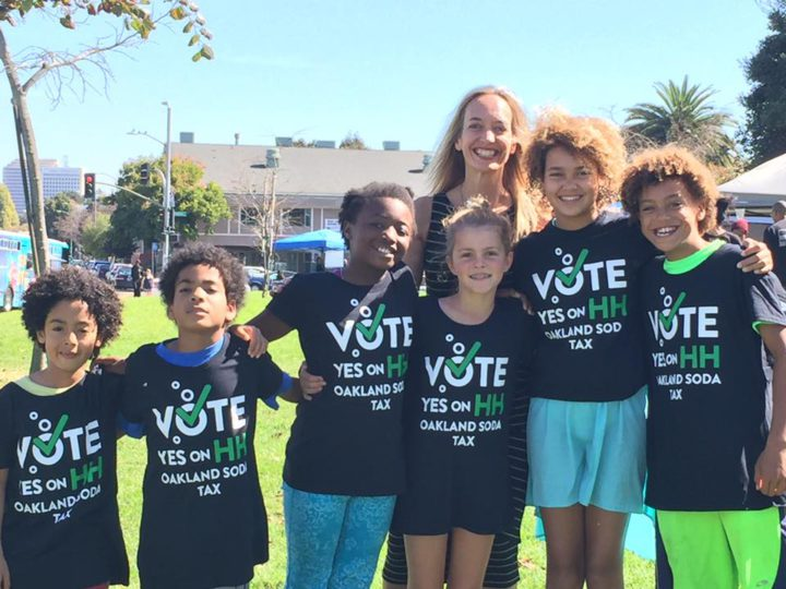 Supporters of Oakland's Measure HH. Photo credit TKTK