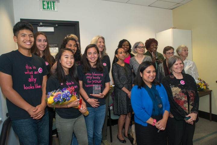 Some of the recipients of 2016 awards from the Commission on the Status of Women. Photo: James Knox