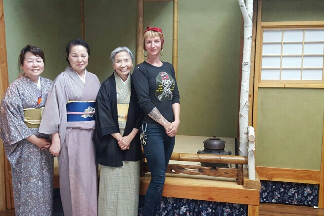 Ali Roth (far right) in Japan. Photo: Courtesy of Ali Roth
