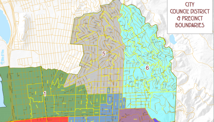 District 6 sits at the northeastern edge of Berkeley and is outlined in turquoise. Map: City of Berkeley