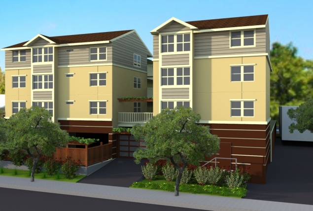Construction started earlier this year on Harper Crossing, an affordable housing complex for seniors in the Lorin District. Only 427 affordable units have been built in Berkeley since although 175 are in the pipeline. Photo: Satellite Housing Associates