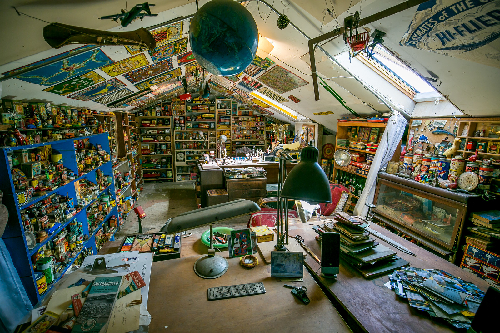 John Balderston's attic. Photo: John Storey