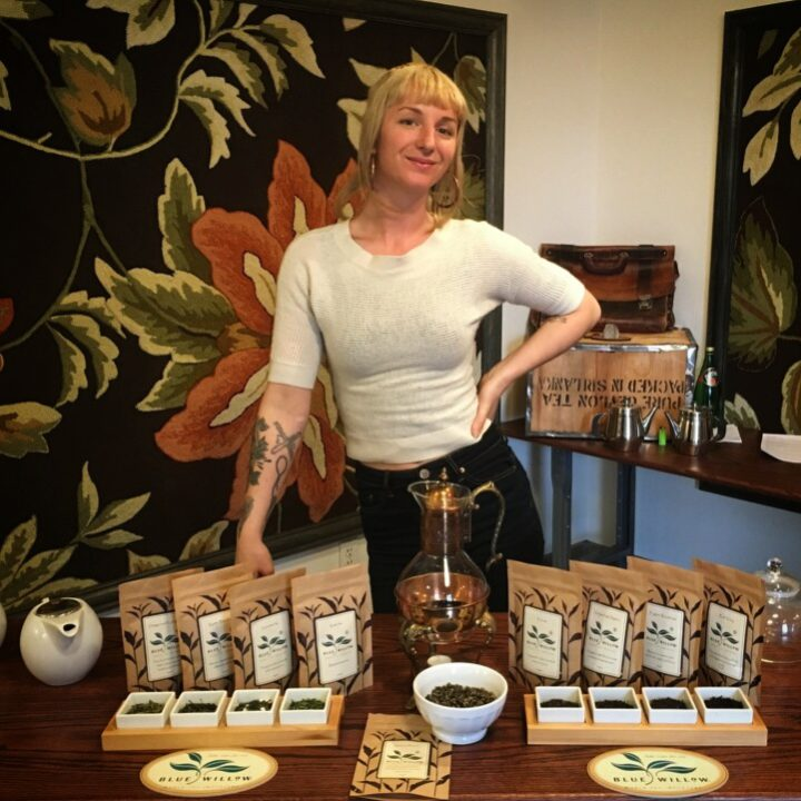 Ali Roth with her Blue Willow Teas. Photo: Courtesy of Ali Roth