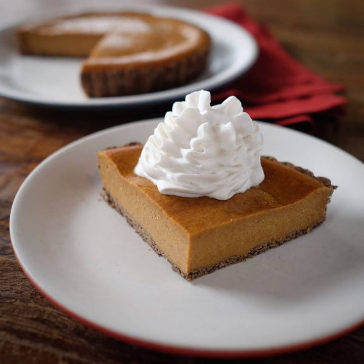 A vegan, gluten-free squash pie with coconut whipped cream from True Food Kitchen. Photo: True Food Kitchen/Facebook