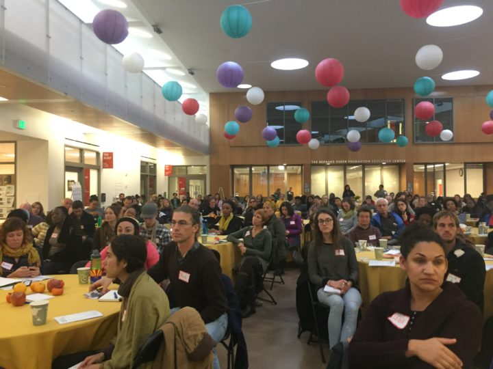 More than 100 people attended a Nov. 19 event on racial justice and food. Photo: Natalie Orenstein