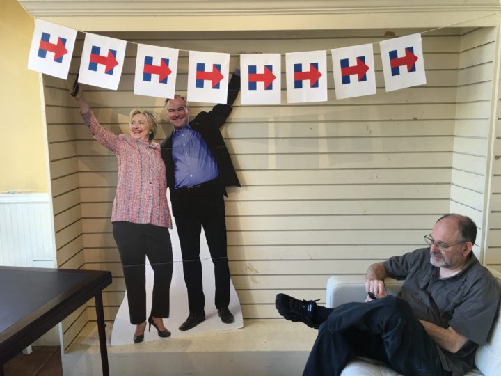 The Berkeley-Albany Hillary Clinton campaign HQ at 1224 Solano Ave. Photo: Tracey Taylor