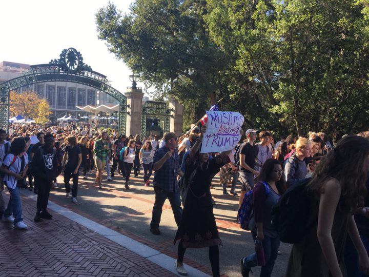 Students protesting at UC Berkeley campus. Photo: Arielle Gordon-Rowe