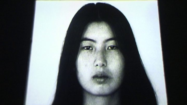 Video still of Theresa Hak Kyung Cha.