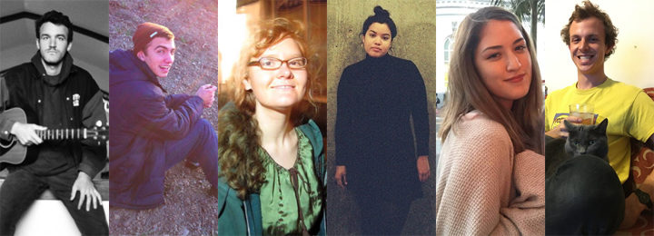 At least six people with Berkeley ties have been reported missing or deceased after Friday's three-alarm fire in Oakland. They are (from left) Nick Gomez-Hall, David T. Cline and Donna Kellogg; and Vanessa Plotkin, Jenny Morris and Griffin Madden. Gomez-Hall, Cline and Kellogg have been confirmed to have been killed.