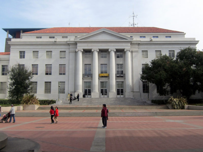 Sproul Plaza / Sproul Hall /UC Berkeley. Photo: Wally Gobetz