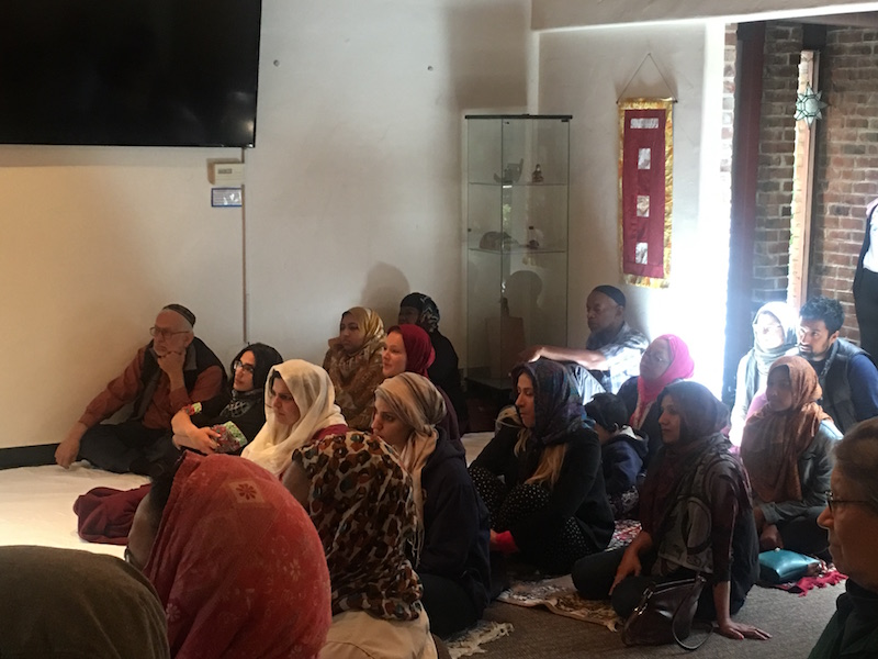 Some 50 people attended the opening of the new women's mosque at the Starr King School for the Ministry in Berkeley on April 14. Photo: Tracey Taylor