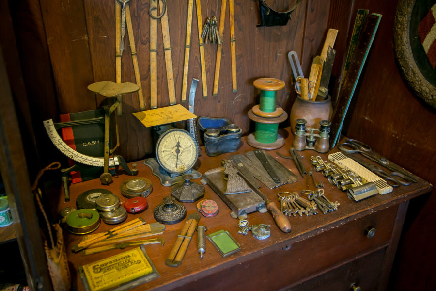 Antique measuring devices. Photo: John Storey