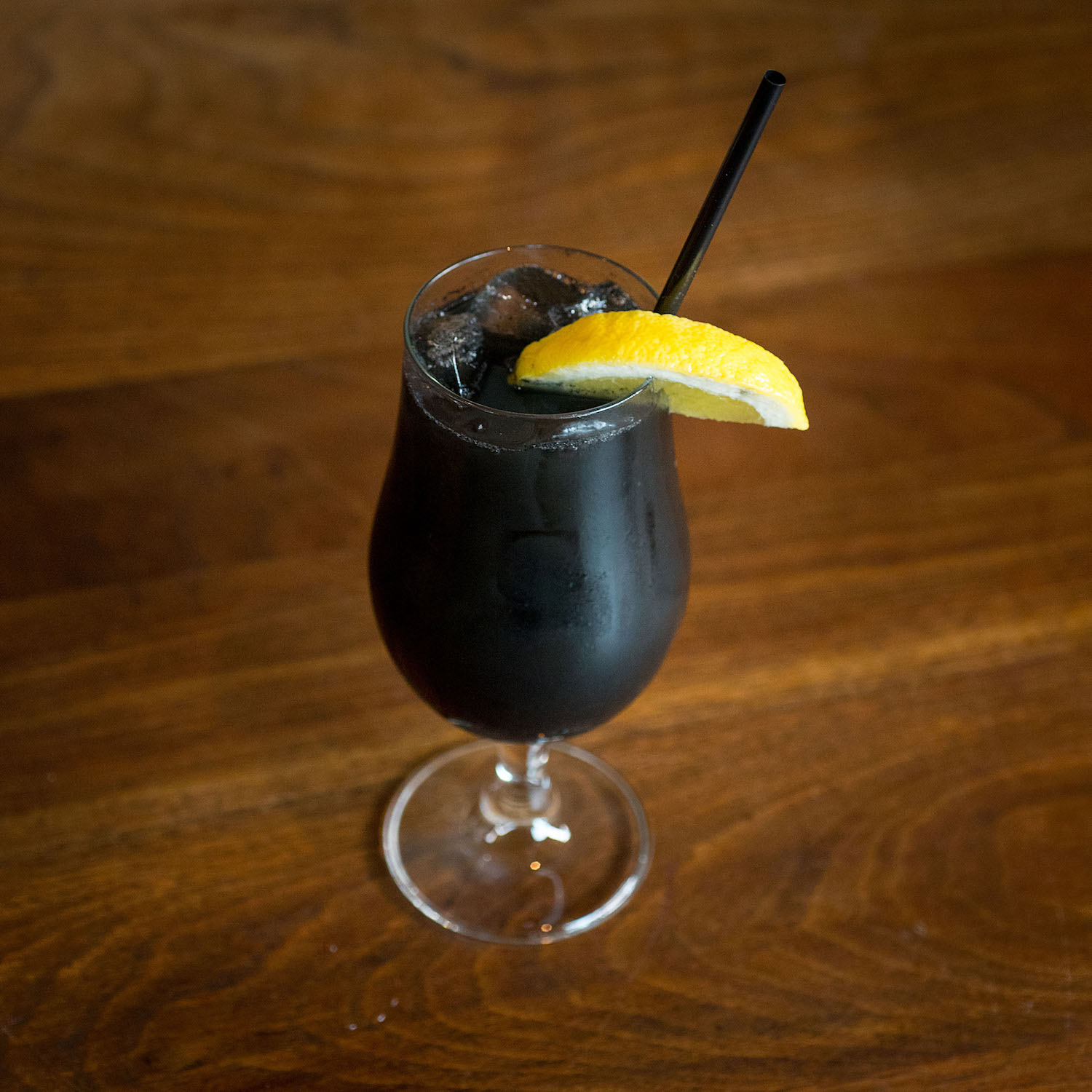 Alcoholic Drink With Charcoal
